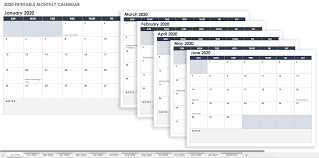 Free Printable Excel Calendar Templates For 2019 On