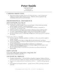 Qa Tester Entry Level Tester Resume Sample Entry Level Tester Resume