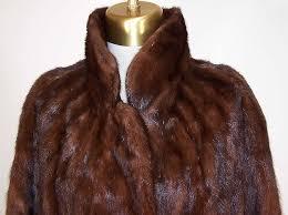 vintage mahogany brown mink fur full length long swing coat jacket close up