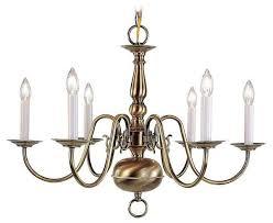 livex lighting 5006 01 williamsburg chandelier in antique brass