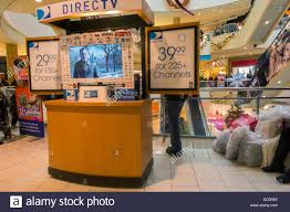 a directv kiosk in the queens center mall in the borough of queens in new york on super saay december 20 2016 super saay the saay prior to