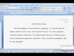 how to start and format your wishes essay  how to start and format your 3 wishes essay