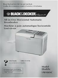 black decker bread machine manual