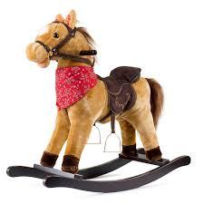 cowboy rocking horse tan brown baby nursery cool bee animal rocking horse