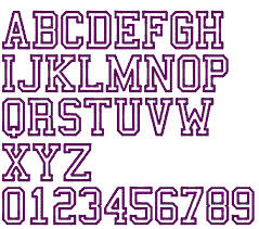 collage fonts free college sports outline embroidery font annthegran