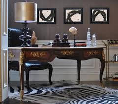 classy home office wainscoting ornate french desk gold