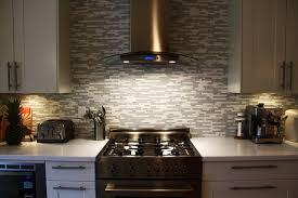 glasarble mosaic tile backsplash contemporary kitchen