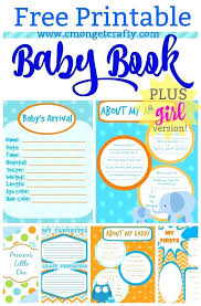 Baby Book Template Printable Baby Book Pages Free Download Digital Baby Book