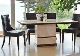 dining sets cream leather chairs. marcello cream marble rectangular dining table with 6 brown leather chairs sets