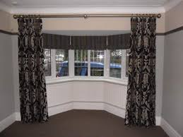 image of best bay window curtain rods