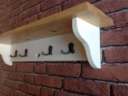 Shabby Chic Coat Rack Shabby Chic coat hook rack shelf kitchen hallway shelves hand 32