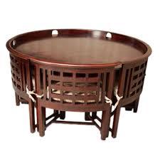 induscraft designer 6 seater round dining table set sets cj