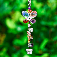 h d car charms rear view mirror accessories crystals ornaments chandelier crystals hanging prisms fengshui suncatcher rainbow