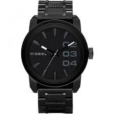 diesel dz1371 watch british watch company diesel men 039 s black steel double down watch