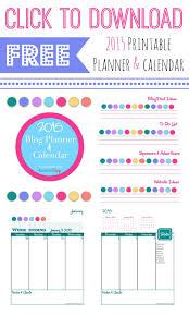 2015 Free Printable Blog Planner And Calendar Atta Girl Says