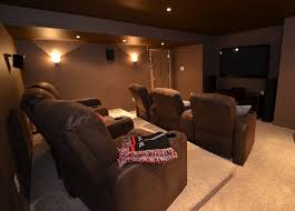 simple home theater. Delighful Theater Brown Themed Home Theater With Comfortable Seats Throughout Simple Home Theater