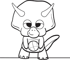 baby dinosaur coloring page free printable cartoon dinosaur