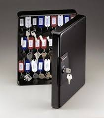 Key Storage Cabinet Safe Wall Mount Organizer Holder Rack Security Lock Box  Tags #SentrySafe