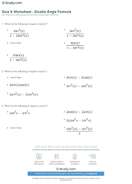 solving double angle trig equations math print the double angle formula worksheet math calculator with work