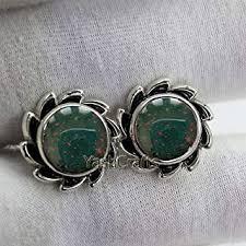 Natural Bloodstone Stud Earrings, Bloodstone ... - Amazon.com