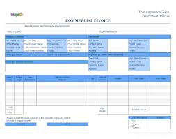 receipt template xls commercial invoice for export in excel