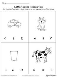 Simple printable worksheets where children can practise writing the phoneme and reading simple words with that phoneme. Recognize The Sound Of The Letter C Alphabet Worksheets Preschool Preschool Worksheets Letter Sound Recognition