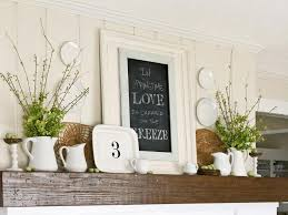 Image of: mantel decorating ideas pictures