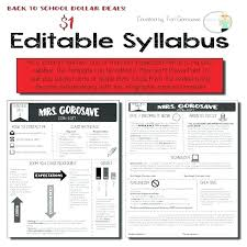 Blank Syllabus Template Free Course Companiesuk Co