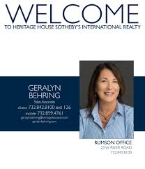 Rumson Office Welcomes Geralyn Behring | Heritage House Sotheby's  International Realty