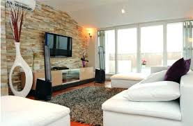 mesmerizing images of living room decoration with various stone wall magnificent modern white family design