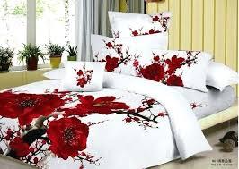 red fl duvet cover queen red fl duvet cover king 100 cotton red romantic plum blossom