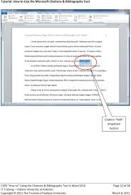 Tutorial How To Use The Microsoft Citations Bibliography Tool Pdf