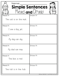 Simple Sentences With Sight Words Reading Worksheets For ...