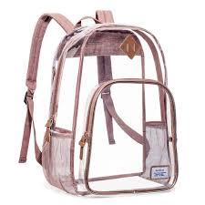 Capri Designs Backpack Capri Designs Hinge Top Heavy Duty Thru Transparent Clear