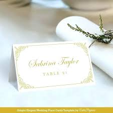 Place Card Holder Template Diy Wedding Place Cards