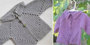 Crochet Baby Sweater Pattern Adorable Hexagon Crocheted Baby Sweater [FREE Crochet Pattern]
