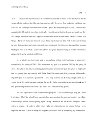 autobiographical essay  college by 8 autobiographical essay