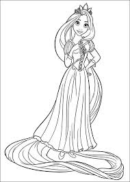 Small Picture Tangled Coloring Pages 7 Coloring Kids