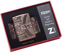29523 <b>Зажигалка Zippo</b> Gears Armor, <b>Antique</b> Copper