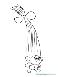 Poppy Trolls Coloring Pages Medium Size Of Troll Page Colouring And