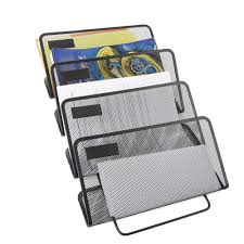 mind reader 4 tier compartment wall mounted office supply doent folder organizer