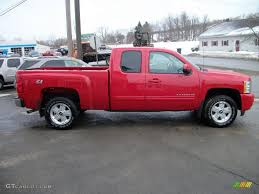 Victory Red 2010 Chevrolet Silverado 1500 LTZ Extended Cab 4x4 ...
