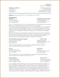 Federal Resume Format Federal Resume Template Resume Name 7