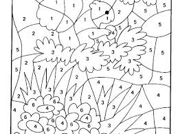 Free Printable Holiday Color By Number Coloring Pages Adult Sheets