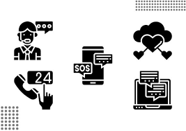 These can be used in website. Help And Support Fill Graphic By Cool Coolpkm3 Creative Fabrica