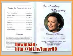 Funeral Program Word Template Best Funeral Program Template Publisher Free Thewokco