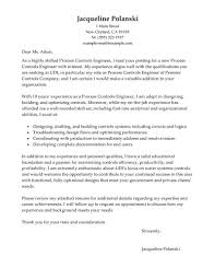 Engineering Cover Letters Government Military Process Controls