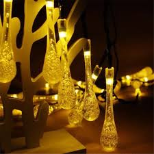 Christmas String Light Covers Solar Powered 30led String Light Water Drop Covers Christmas