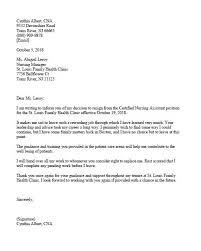Cna Resignation Letter Sample Certified Nursing Assistant Resignation