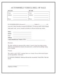 Free Downloadable Bill Of Sale Sample Of A Bill Sale For Car Printable Free Template Form Laywers